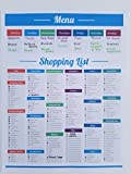 LillieKay Weekly Menu and Shopping Grocery List Planner Tear Off Pad, 8.5 x 11 inch | Menu Food Tracker | Shopping List (Menu/Shopping List Planner)