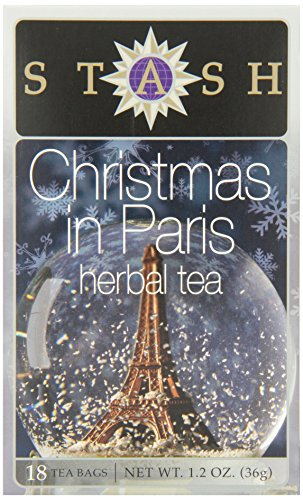 Stash Tea Christmas In Paris 18 Teabags in Foil (Pack of 6) Individual Herbal Tea Bags for Use in Teapots Mugs or Cups, Brew Hot Tea or Iced Tea