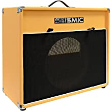 Seismic Audio-12-Inch Guitar Speaker Cabinet Empty-7 Ply Birch-Speakerless 1x12 Cab-Vintage New-Orange Tolex-Black Cloth Grill-Front or Rear Loading Options