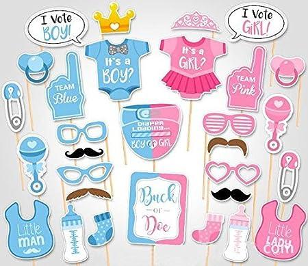Luoem Baby Shower Photo Props baby bottle Masques Photobooth Props il est un garçon Bab