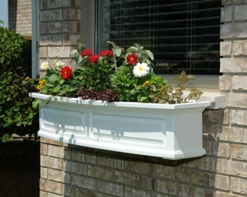 Mayne Nantucket 48 Window Box Combo with Corbel Brackets - White 4 by Home Wishes