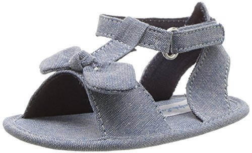 Product image of Polo Ralph Lauren Kids Girls' Zoii Crib Shoe, Blue Chambray, 3 M US Infant