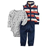 Carter's Baby Boys' 3 Piece Striped Little Vest Set 9 Months
