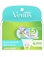 Gillette Venus Extra Smooth Women's Razor Blade Refills, 4 Count