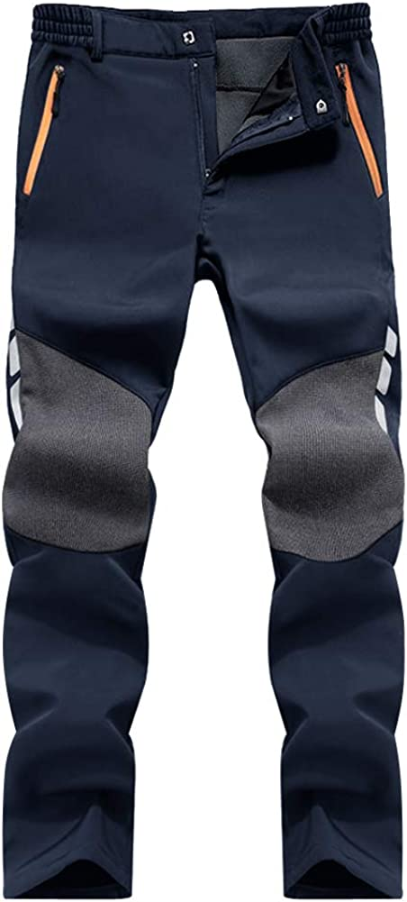 MAGCOMSEN Pantalon en softshell imperm/éable pour homme et hiver chaud respirant en plein air doublure polaire /épaisse pour la randonn/ée le ski