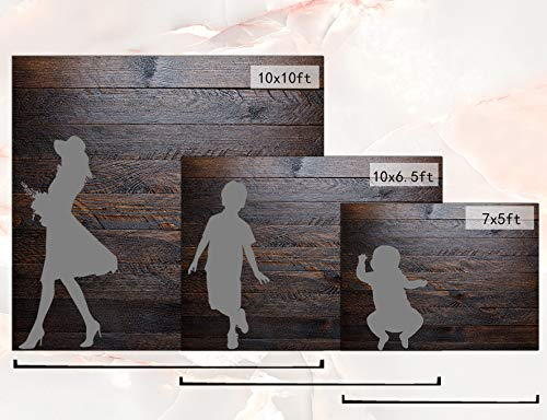 Kate 10x10ft Wood Backdrop Microfiber Wood Backdrop Brown Wood Retro Background Worn Wooden Boards Background