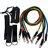EBRICKON Fitness Equipments Workout Resistance Bands Latex 11pcs/set Exercise Pilates Tubes Pull Rope Expanders Training