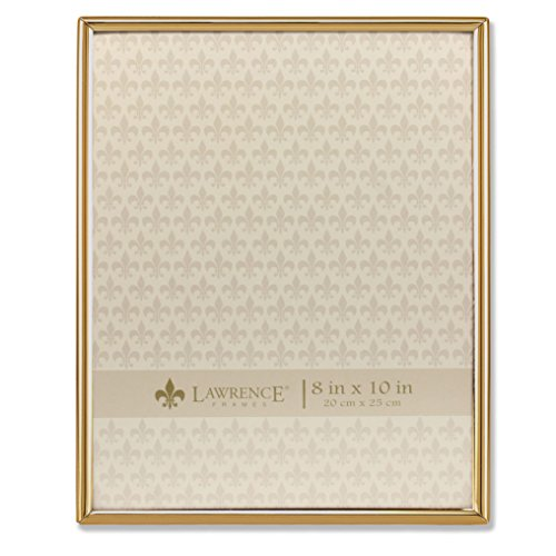 Amazoncom Lawrence Frames 8x10 Simply Gold Metal Picture