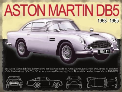 Plaque métal Aston Martin DB5