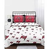 NFL Tampa Bay Buccaneers Logo Football Full Bed Sheet Set