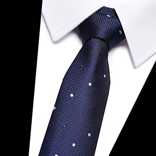 WOXHY De Hombre Corbata 8 Cm Color Negro Plaid Seda Corbatas ...