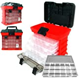"Stalwart 75-3182A 11"" Rack System Tool Box with 4 Organizers"