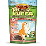 Zuke's Pet Nutrition Natural Purrz Purrfectly Sublime Soft Treats for Cats, Savory Salmon Recipe, 3-Ounce