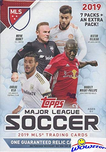 (2019 Topps MLS Major League Soccer EXCLUSIVE Factory Sealed Retail Box with AUTHENTIC MLS AUTOGRAPH JUMBO RELIC or DUAL RELIC! Look for Cards, Parallels & Relics of all the Biggest MLS Stars! WOWZZER!)
