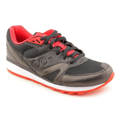 Cheap Saucony Men's Master Control, Black/Red-7.5