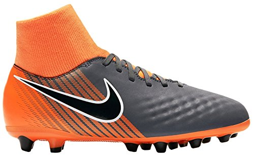 Bota Nike Magista Onda II DF AG-Pro Junior, Color Gris / Naranja