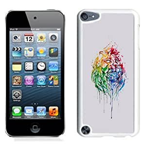 NEW Unique Custom Designed iPod Touch 5 Phone Case With Paint Illustration Lion Head_White Phone Case