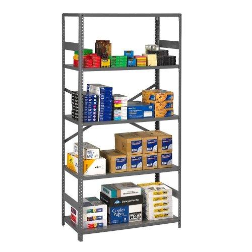 (Tennsco Open Steel Shelving Unit 36
