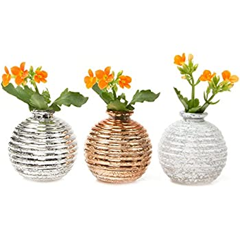 Amazon Chive Jojo Small 3 Sphere Round Ceramic Flower Vase
