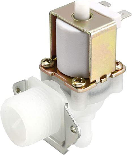 """G3//4/"""" Water Solenoid Valve DC 24V Normally Open Male Thread Inlet with Filter"""