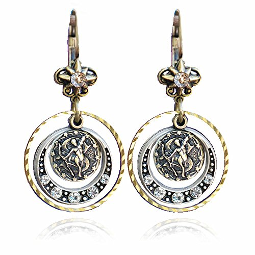 Sagittarius Zodiac Sign Astrology Earrings - November and December Birthday Gifts