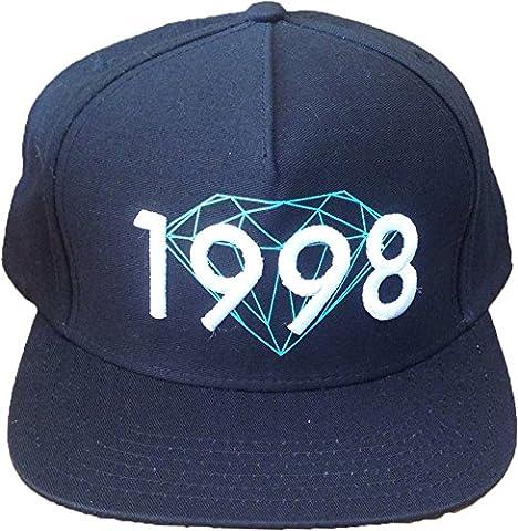 Diamond Supply Co.1998 Brilliant Black Snapback Hat (Diamond Supply Co 1998)