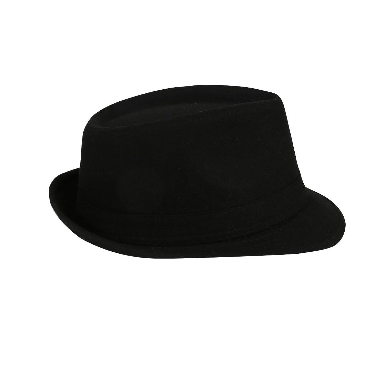 JNTworld Stilvoll Warm Sonne Panama Mützen Breit Rand Wolle Filz Tanzen Jazz Hut