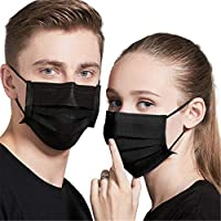 Face Mask Disposable Non Surgical 3-Ply Breathable Non-Woven Mouth Cover for Personal, Home, Office, Outdoor