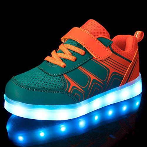 Una Bambini Unisex Led Bright Bambina Arancione Di Carica 7 Taglia Dei Colore Luci Sneakers Usb Con Mejor Tennis Suola Scarpe Bambino Luce Scarpe Luminosi Shoes Nella Dogeek aEqg56n