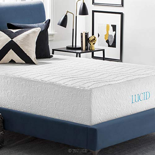 home, kitchen, furniture, bedroom furniture, mattresses, box springs,  mattresses 7 picture LUCID 16 Inch Plush Gel Memory Foam and deals