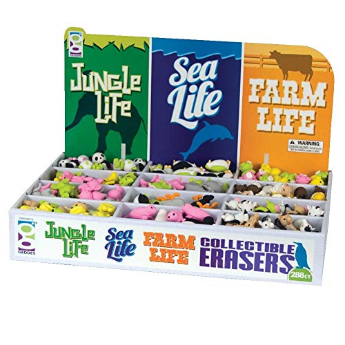 Raymond Geddes Jungle Sea & Farm Life Collectible Erasers, 288 Pack (68510) by Raymond Geddes (Image #3)