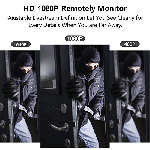 LIVCRT Spy Camera Wireless Hidden Camera WiFi Mini Cam HD 1080P DIY Tiny Cams Small Nanny Cameras Home Security Live Streaming Via Android /iOS/PC App Motion Detection Alerts