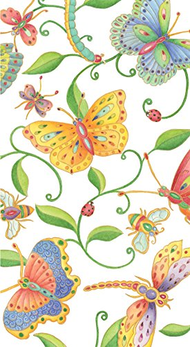 Entertaining with Caspari with Parvaneh's Garden Paper Guest Towels, 15-Pack