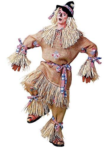 Mens Deluxe Scarecrow Adult Plus Costume White -