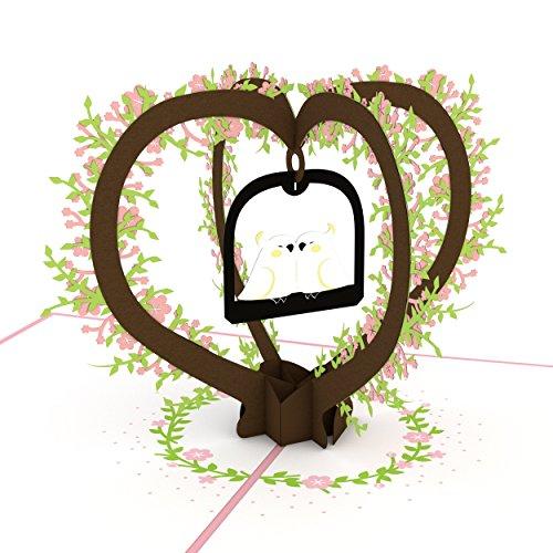 (Lovepop Lovebirds Pop Up Card, 3D Card, Love Card, Valentine's Day Card, Romance Card, Cute Card, Couple Card, Wedding Card)