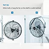 Tornado - 18 Inch High Velocity Industrial Wall Fan