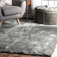 nuLOOM Grey Cloud Shag Area Rug, 3 x 5