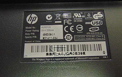 HP USB SmartCard UK CCID Keyboard 631411-034