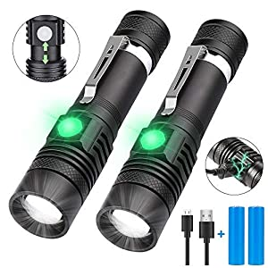 LED Torch, iToncs Torches Super Bright Powerful USB Rechargeable Torch Flashlight for Camping Hiking [2 Pack] …
