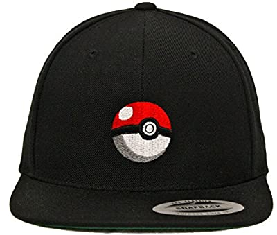 Generic Pokemon Pokeball Black Snapback