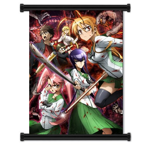 High School of the Dead Anime Wall Scroll Poster  Inches