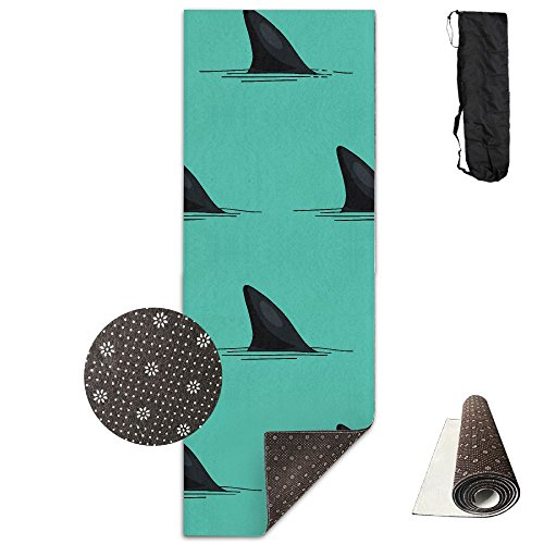 (Seamless Shark Fins Yoga Mat - Advanced Yoga Mat - Non-Slip Lining - Easy To Clean - Latex-Free - Lightweight And Durable - Long 180 Width 61cm)