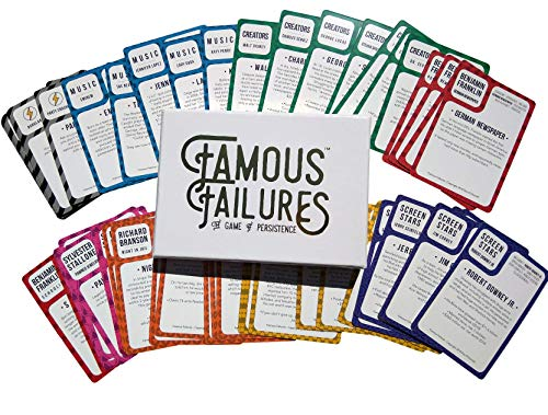 Education Game - Famous Failures, Success Education Card Game for Learning Persistence & Overcoming Rejection