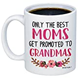 MyCozyCups Baby Reveal Gift For Mom - Promoted To Grandma 2018 Coffee Mug - New Mommy To Be Newborn Novelty Gift Idea For Mothers - New Parents Pregnancy Suprise Announcement Photo Prop Cup For Her