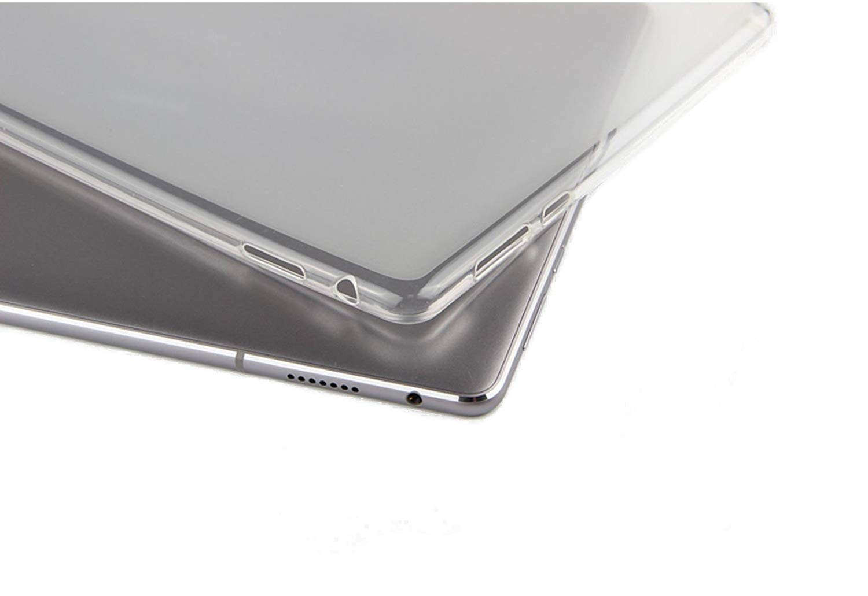 Paquete de 2 en 1 Funda Protectora de Silicona TPU Transparente + Protector de Pantalla 9H para Huawei MediaPad M5 10.8 Domxteck