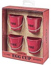 Eddingtons Fire Bucket Egg Cups - Set of 4 Red