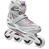 Roces Women's Optic Inline Fitness Skates, White/Carmine Pink 400800 00002-8 by Roces