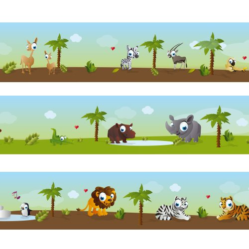 Zoo Wallpaper Border - Wandkings border