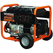 Generac 5939, 5500 Running Watts/6875 Starting Watts, Gas Powered Portable Generator
