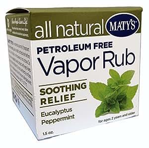 Amazon Com Matys All Natural Vapor Rub 1 5 Ounce Health